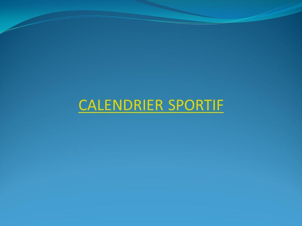 Calendrier sportif