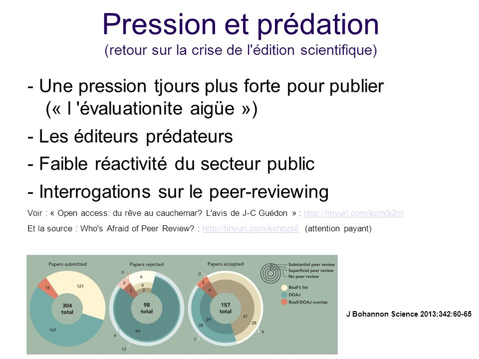 Pression et prédation (retour sur la crise de l édition scientifique)