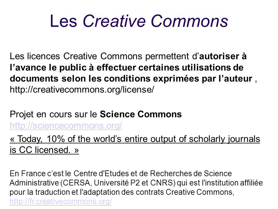 25/01/1025/01/10. Les Creative Commons.