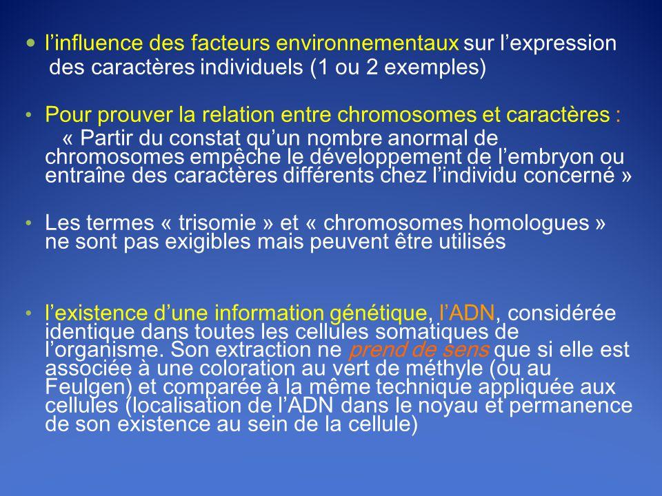 l'influence des facteurs environnementaux sur l'expression