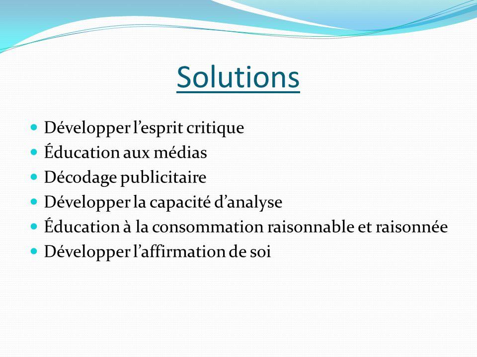 Solutions Développer l'esprit critique Éducation aux médias