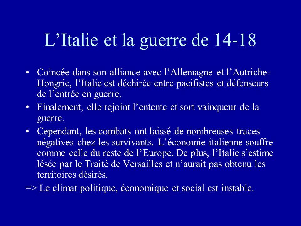 L'Italie et la guerre de 14-18