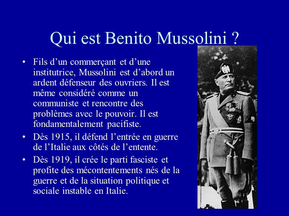 Qui est Benito Mussolini
