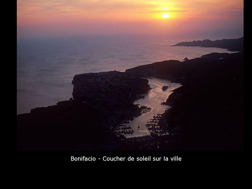 Bonifacio - Coucher de soleil sur la ville
