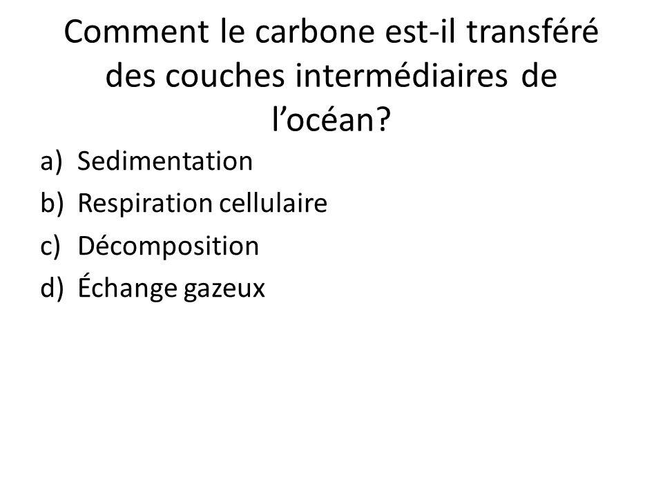 Comment le carbone est-il transféré des couches intermédiaires de l'océan
