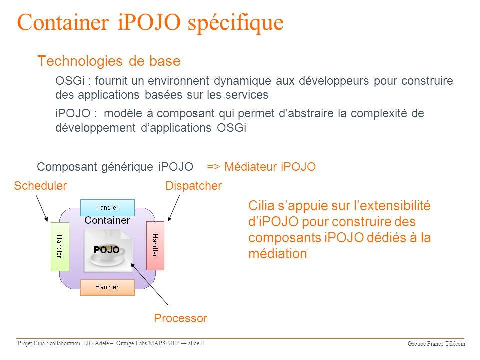 Container iPOJO spécifique