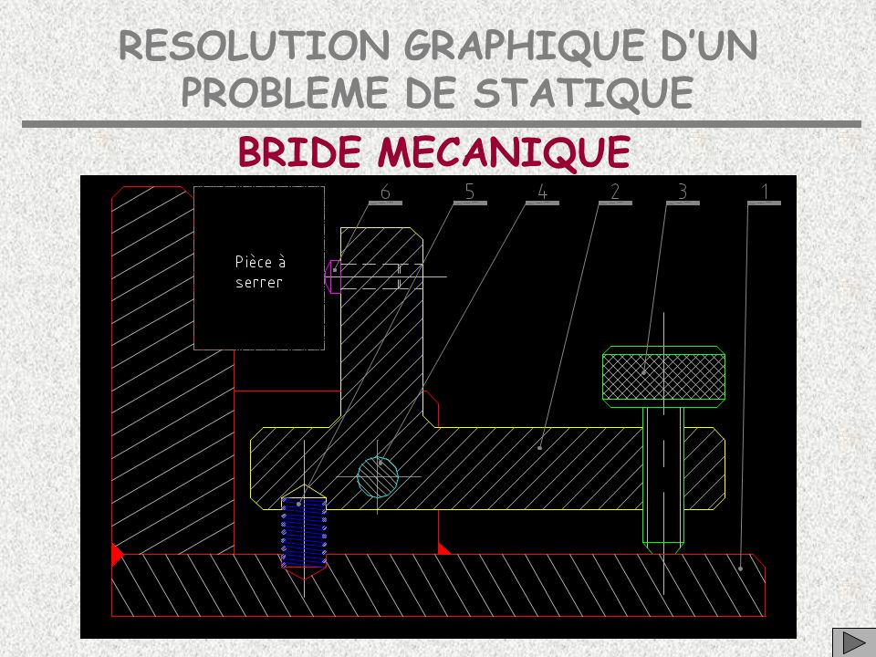 RESOLUTION GRAPHIQUE D'UN PROBLEME DE STATIQUE