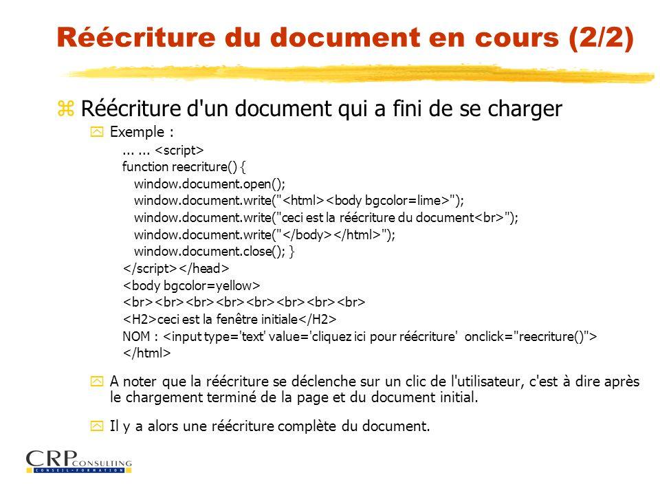 Réécriture du document en cours (2/2)