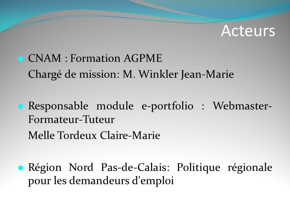 Acteurs CNAM : Formation AGPME