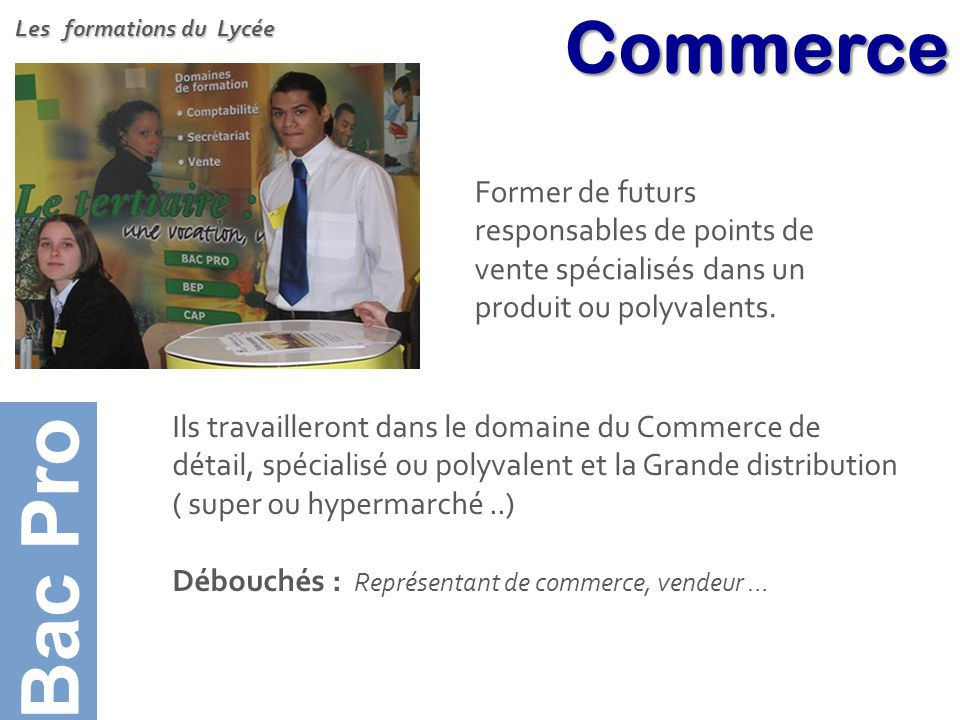 Bac Pro Bac Pro Commerce