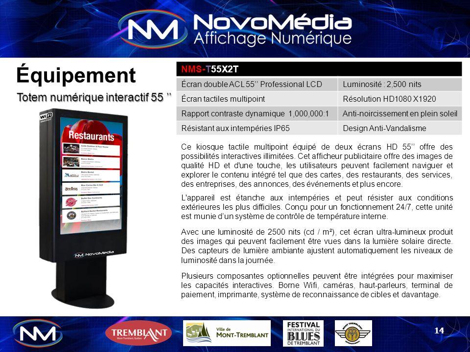 Équipement Totem numérique interactif 55 '' NMS-T55X2T