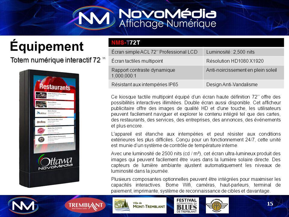 Équipement Totem numérique interactif 72 '' NMS-T72T