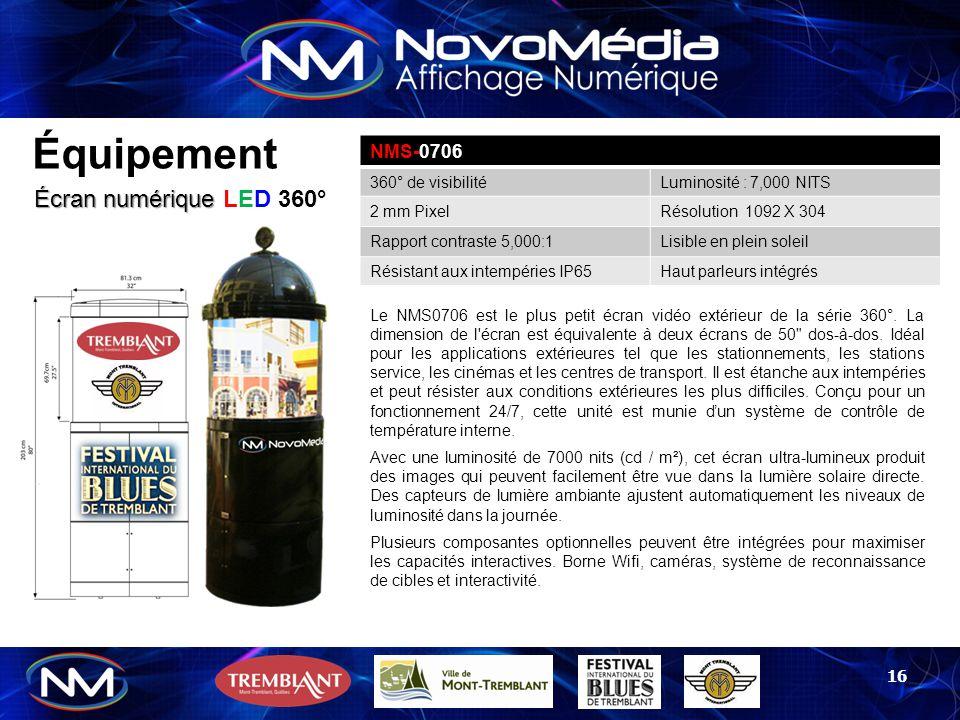 Équipement Écran numérique LED 360° NMS-0706 360° de visibilité