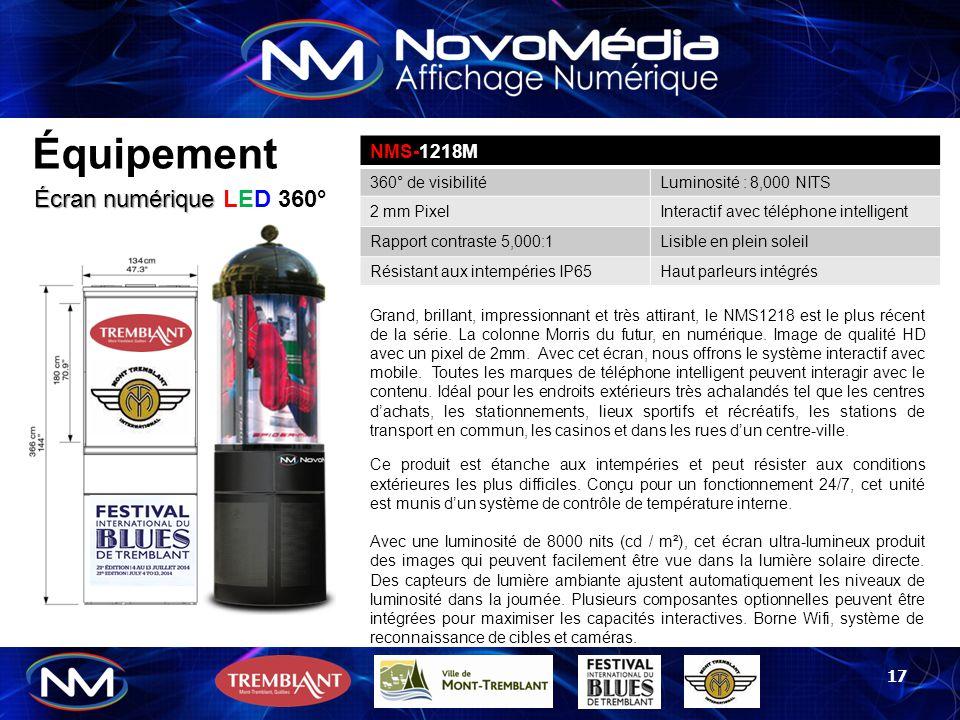 Équipement Écran numérique LED 360° NMS-1218M 360° de visibilité