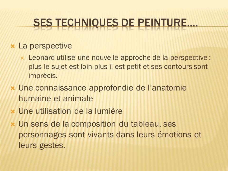 SES TECHNIQUES DE PEINTURE….