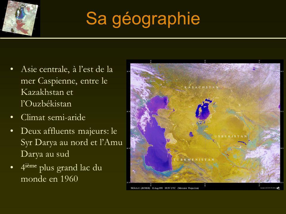 Sa géographie Asie centrale, à l'est de la mer Caspienne, entre le Kazakhstan et l'Ouzbékistan. Climat semi-aride.