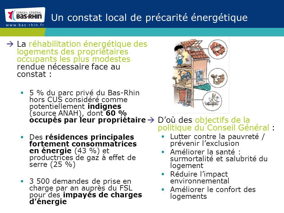 Un constat local de précarité énergétique