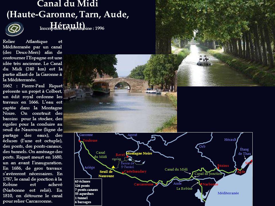 Canal du Midi (Haute-Garonne, Tarn, Aude, Hérault)