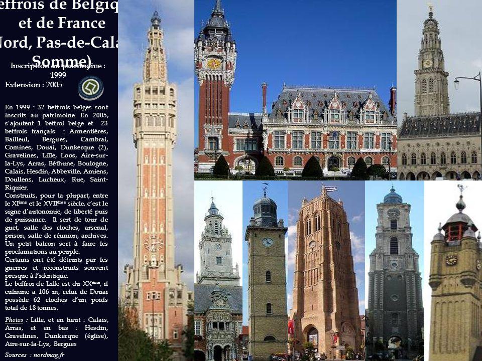 Beffrois de Belgique et de France (Nord, Pas-de-Calais, Somme)