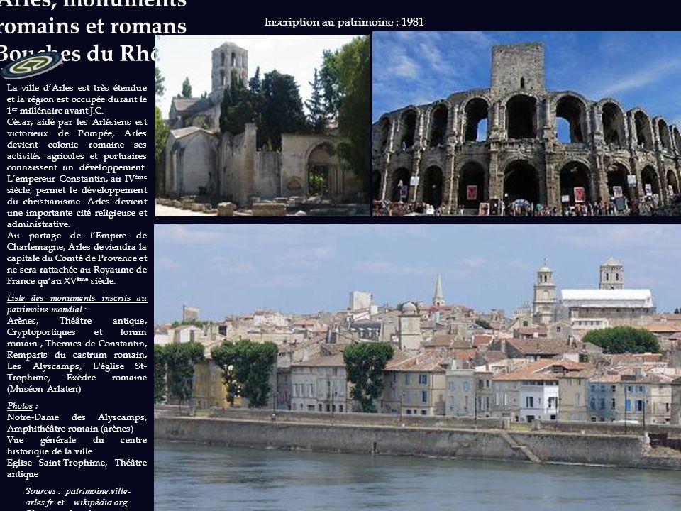Arles, monuments romains et romans (Bouches du Rhône)