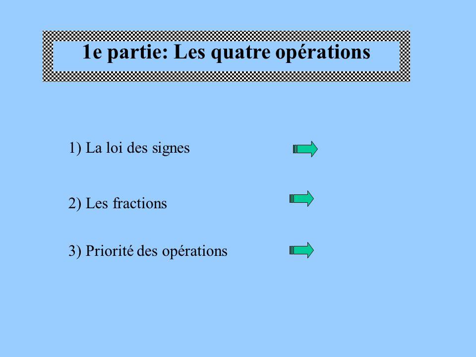 1e partie: Les quatre opérations