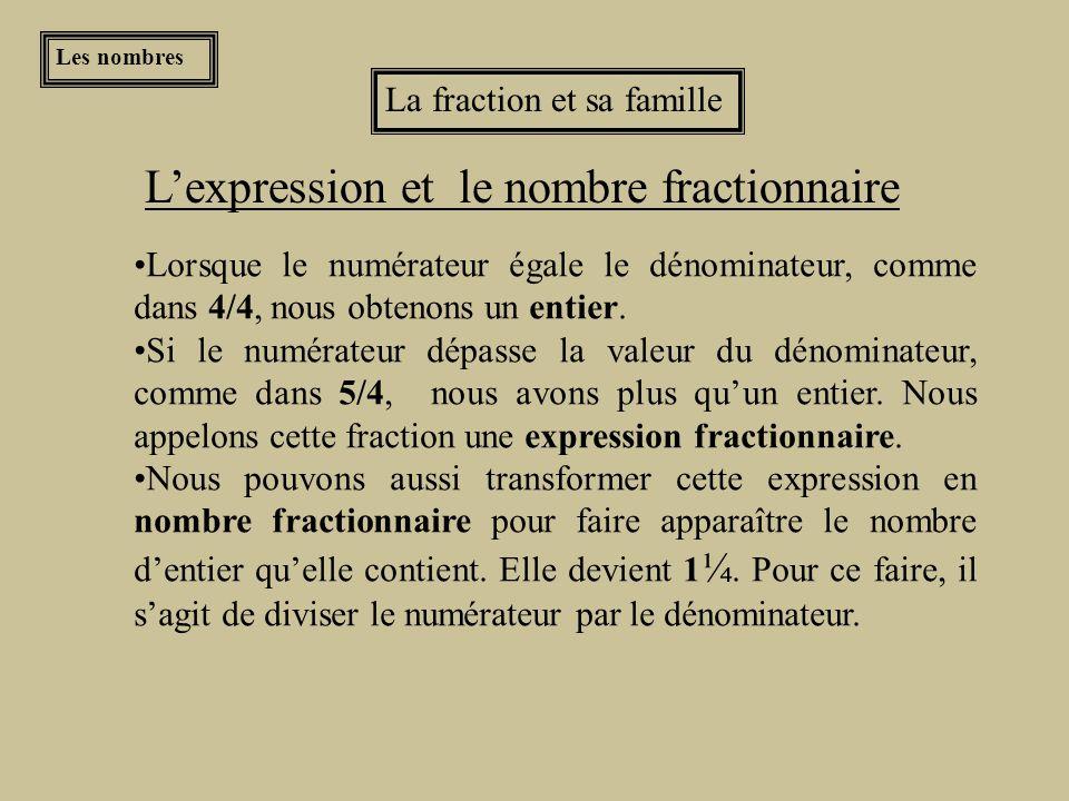 L'expression et le nombre fractionnaire