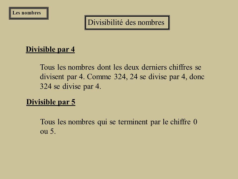 Divisibilité des nombres