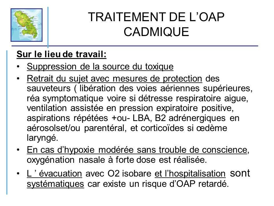 TRAITEMENT DE L'OAP CADMIQUE