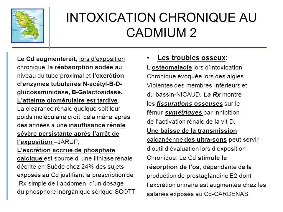 INTOXICATION CHRONIQUE AU CADMIUM 2