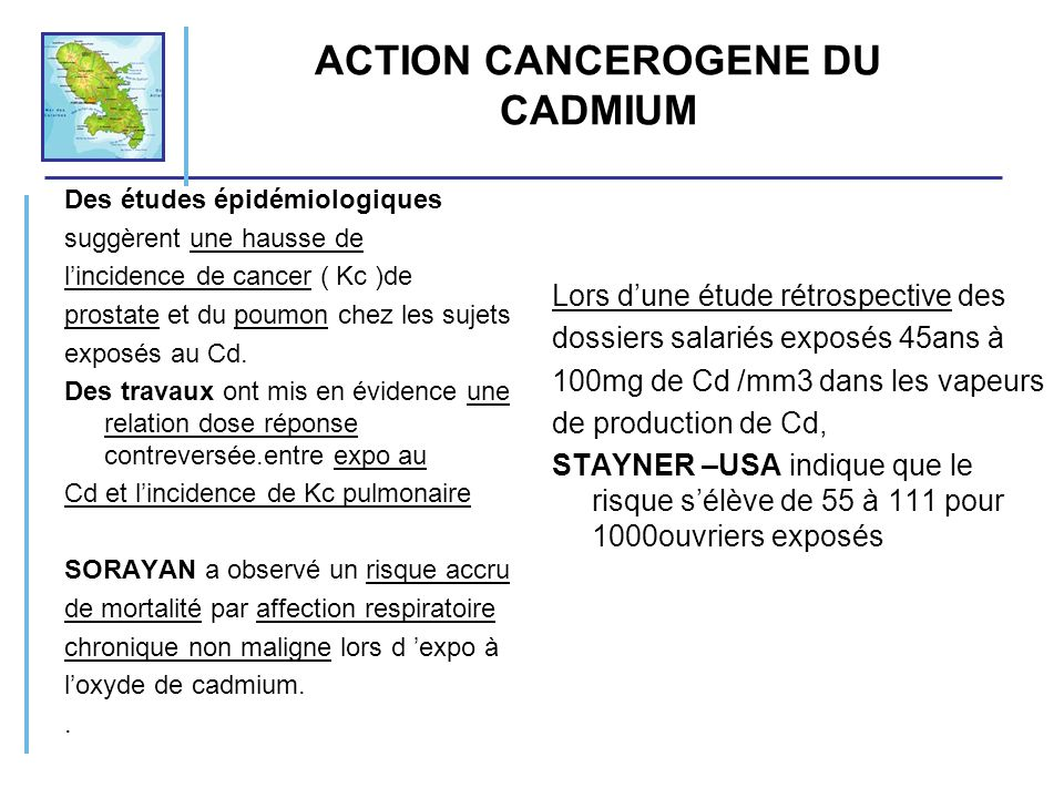 ACTION CANCEROGENE DU CADMIUM