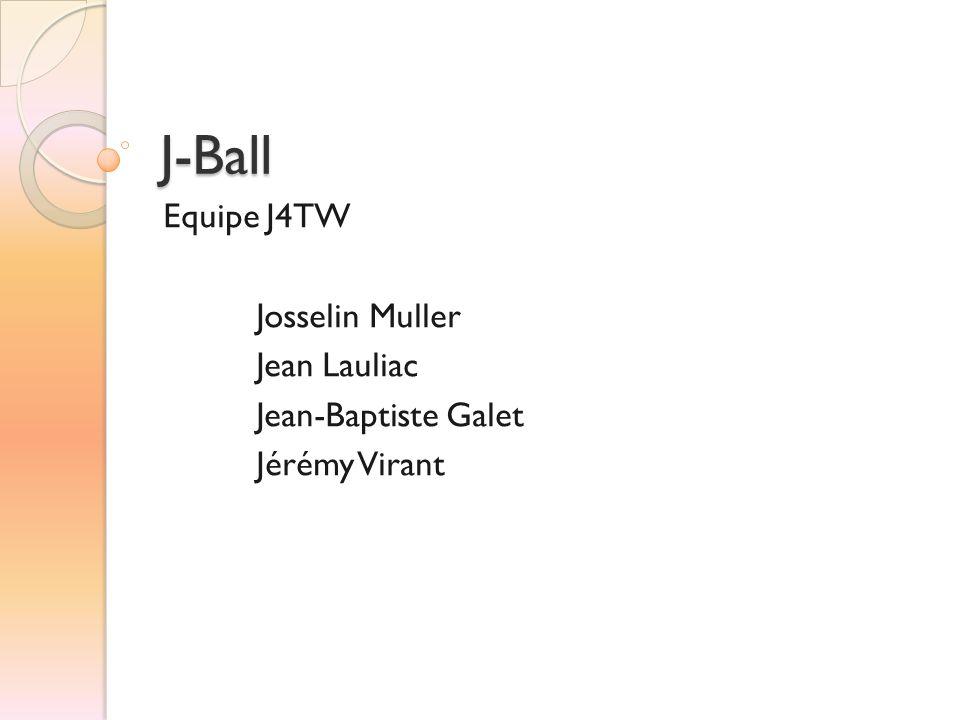 J-Ball Equipe J4TW Josselin Muller Jean Lauliac Jean-Baptiste Galet