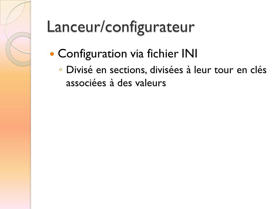 Lanceur/configurateur