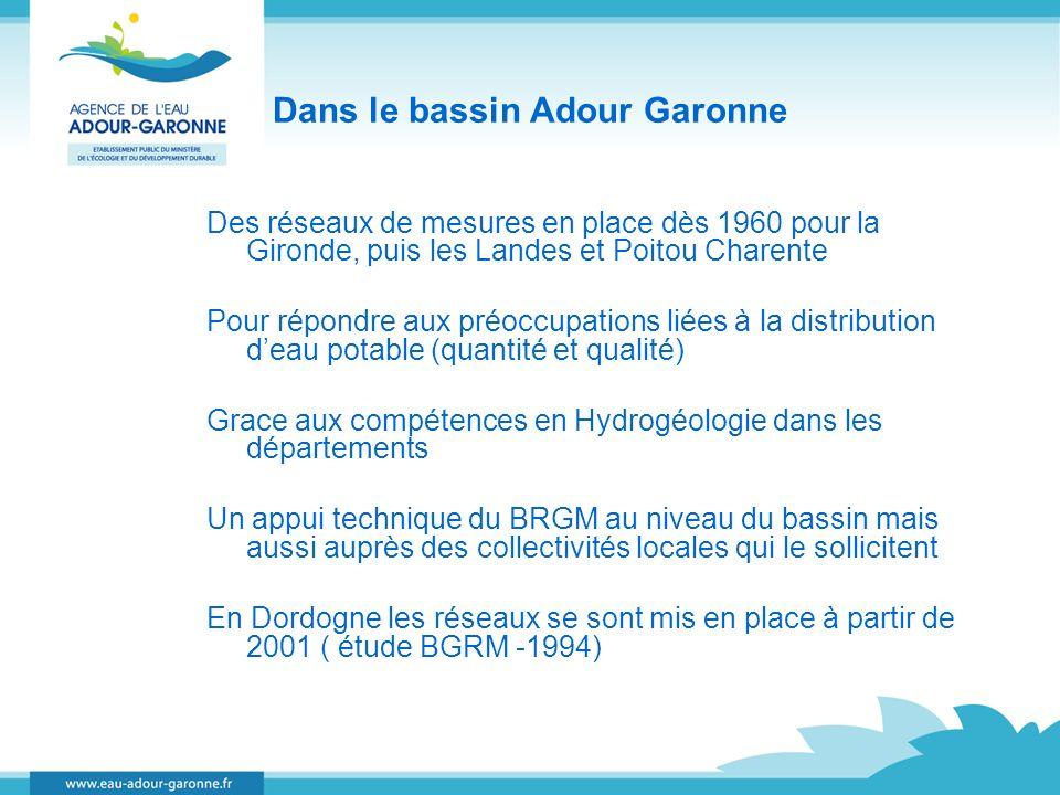 Dans le bassin Adour Garonne