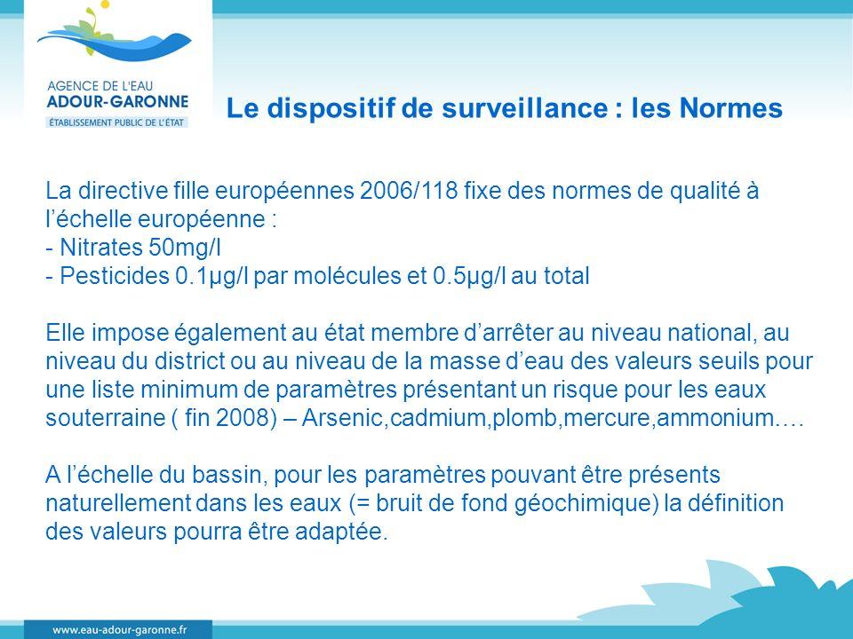 Le dispositif de surveillance : les Normes