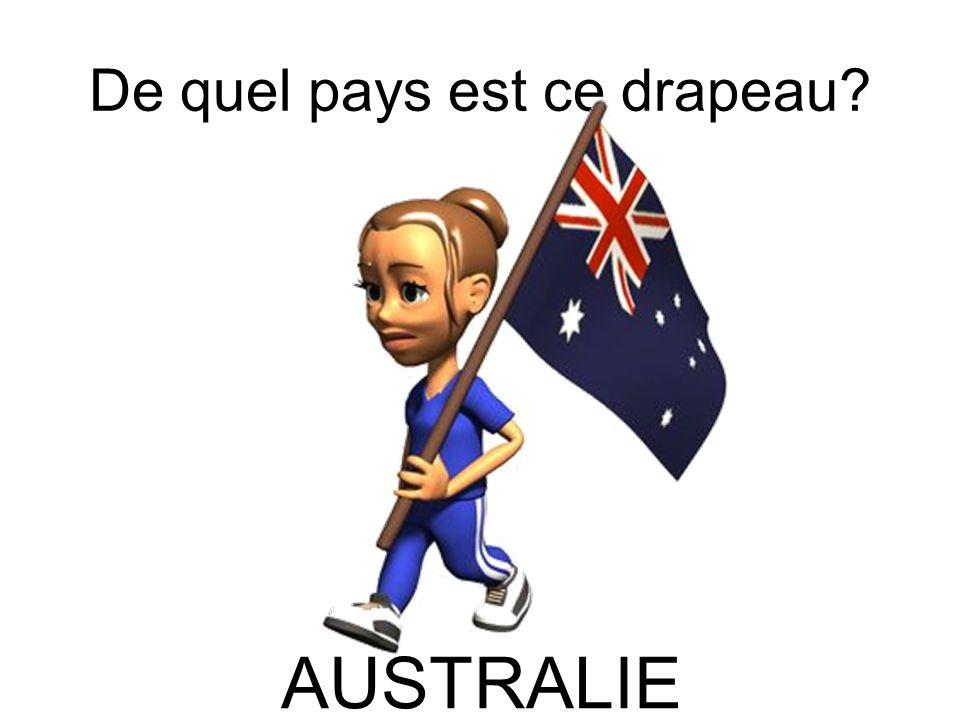 De quel pays est ce drapeau