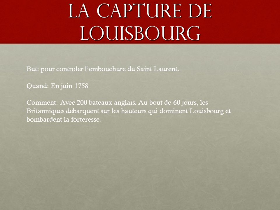 La capture de Louisbourg