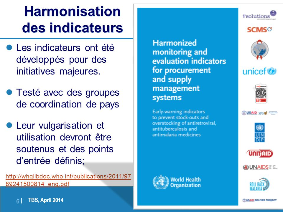 Harmonisation des indicateurs