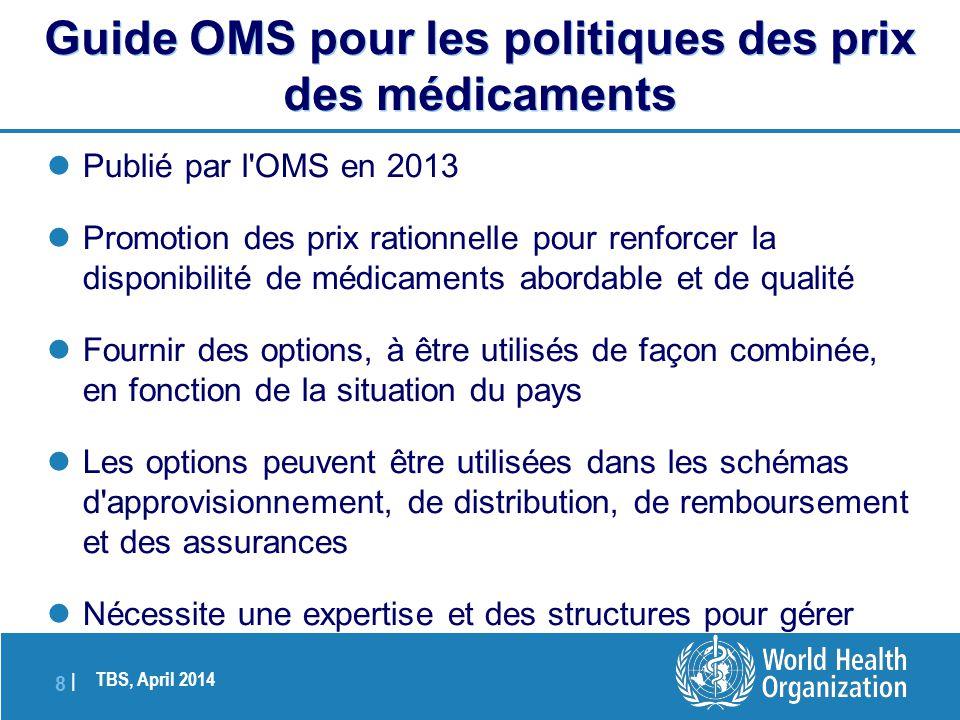 Guide OMS pour les politiques des prix des médicaments