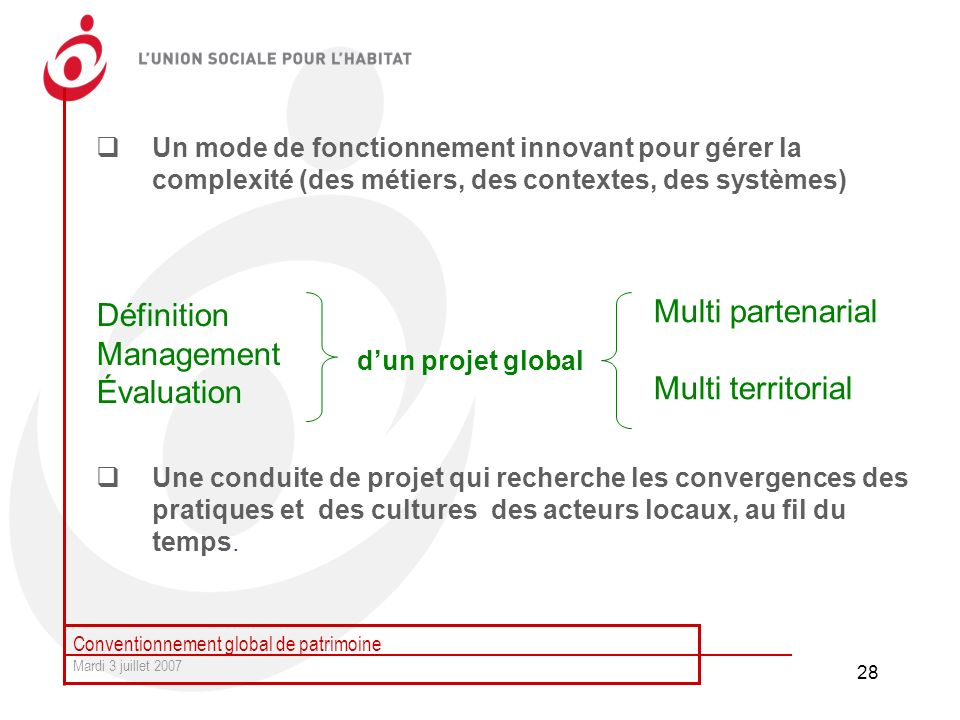 Multi partenarial Multi territorial Définition Management Évaluation