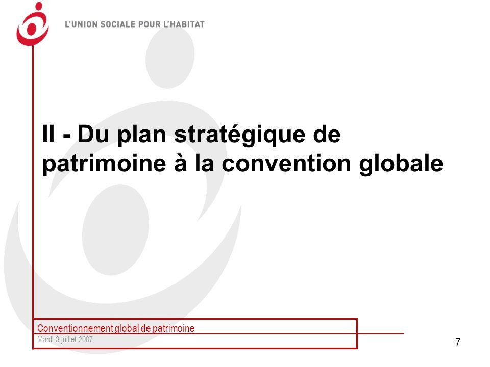 II - Du plan stratégique de patrimoine à la convention globale