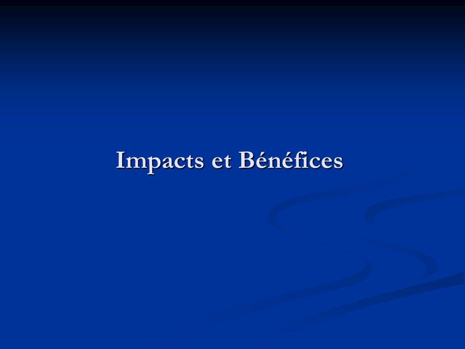 Impacts et Bénéfices