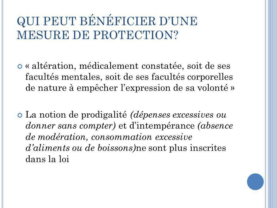 QUI PEUT BÉNÉFICIER D'UNE MESURE DE PROTECTION