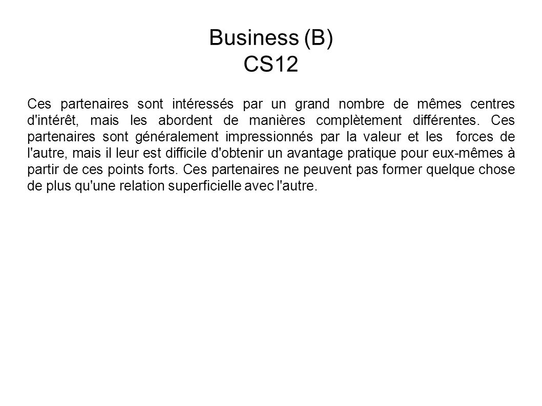 Business (B) CS12.