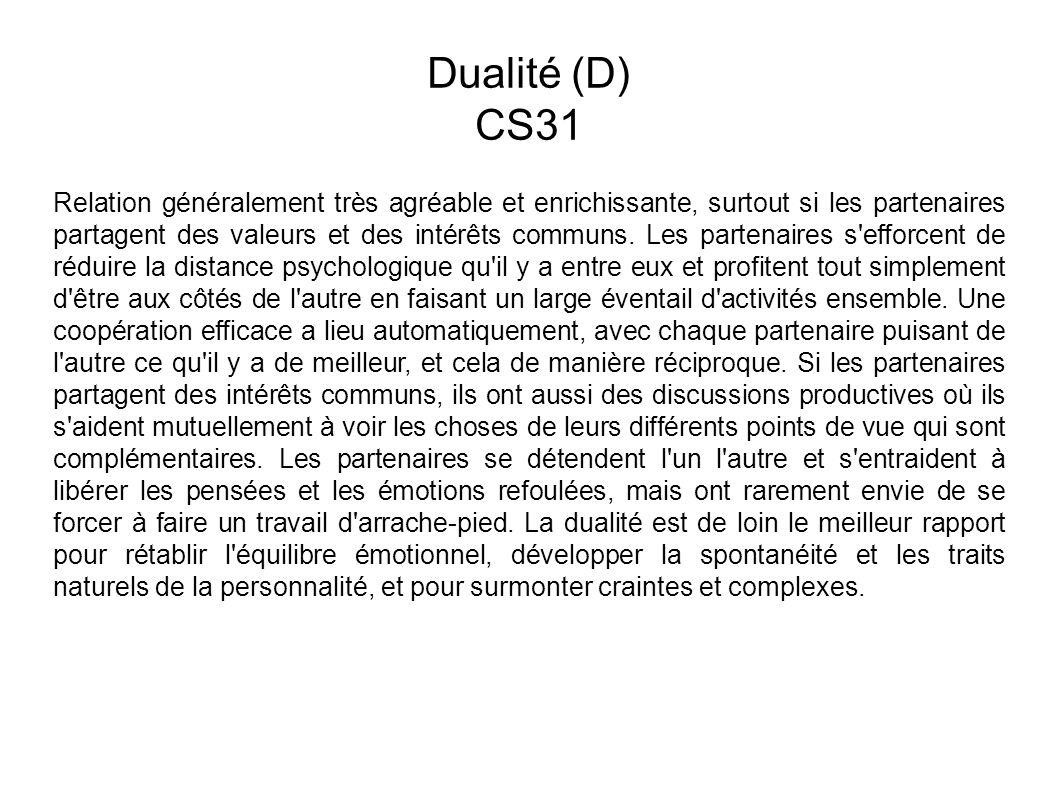 Dualité (D) CS31.