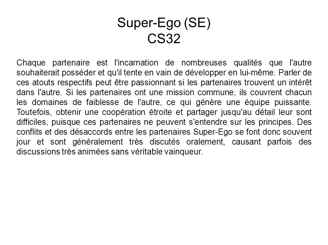 Super-Ego (SE) CS32.