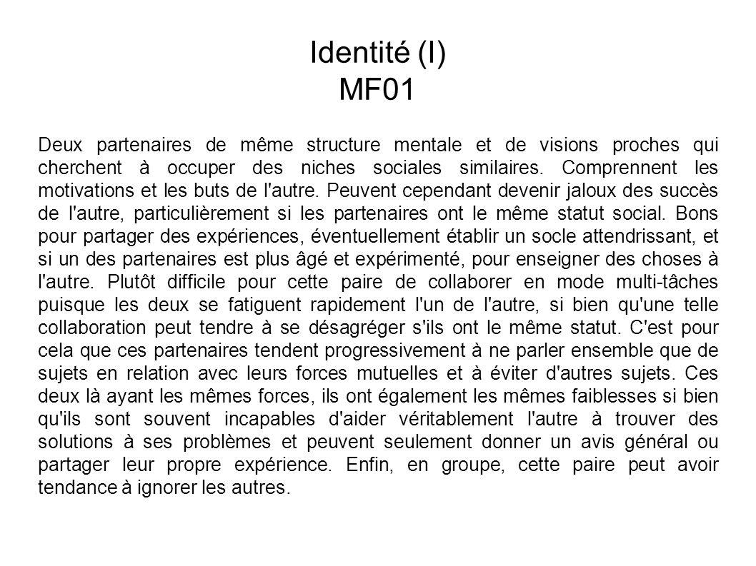 Identité (I) MF01.