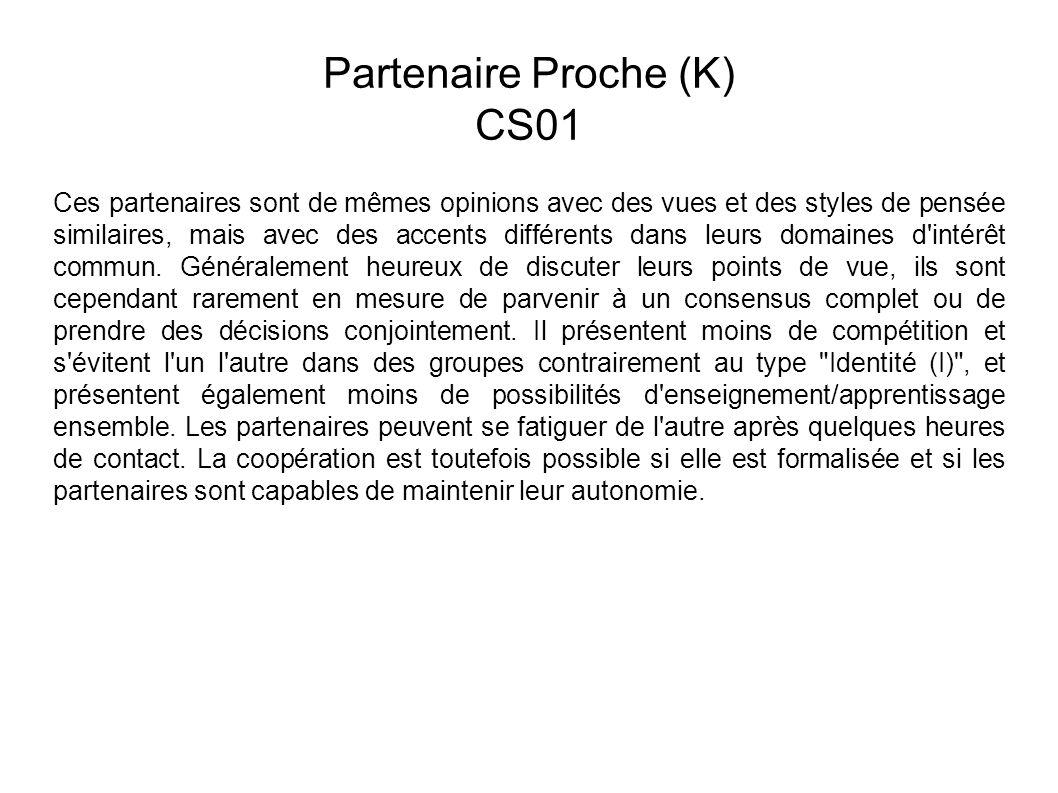 Partenaire Proche (K) CS01