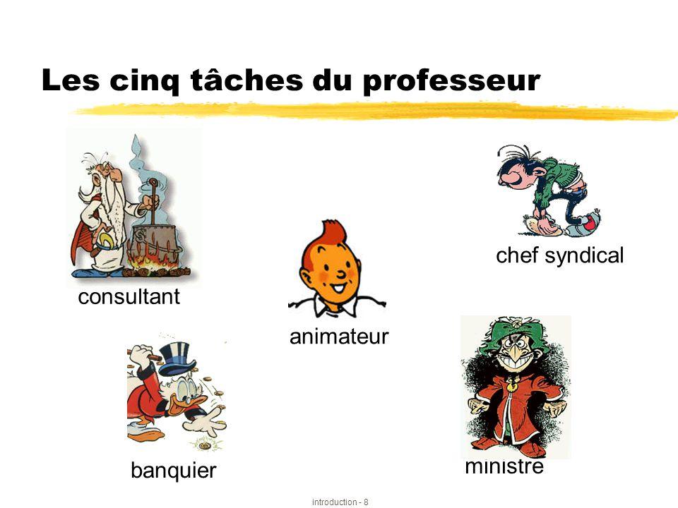 Les cinq tâches du professeur
