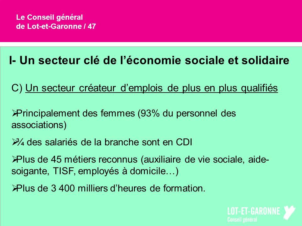 I- Un secteur clé de l'économie sociale et solidaire