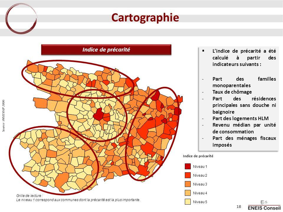 Cartographie Indice de précarité